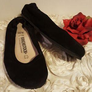 Birkenstock Celine Ballerina Flats Suede Black